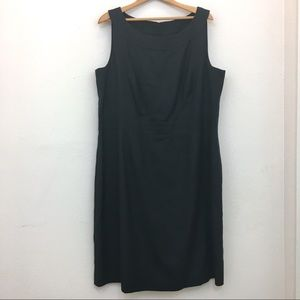 Talbots sheath dress sleeveless black size 18